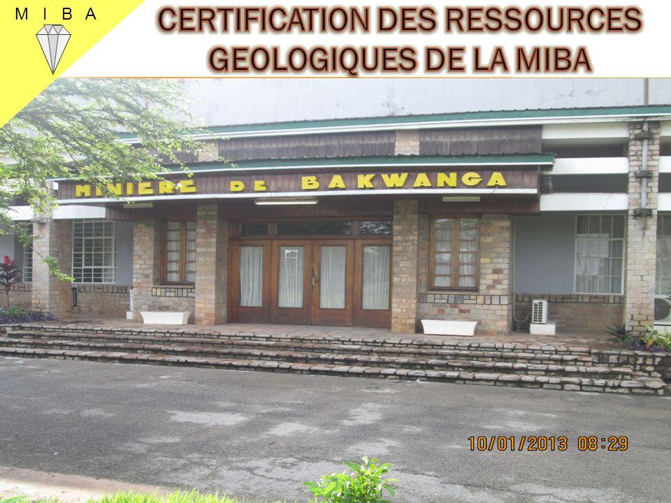 CERTIFICATION DES RESSOURCES GEOLOGIQUES DE LA MIBA