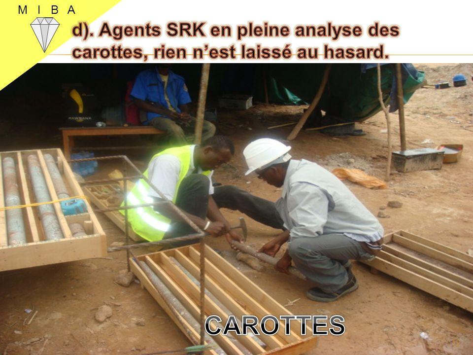 M I B A d). Agents SRK en pleine analyse des carottes, rien n'est laissé au hasard. CAROTTES
