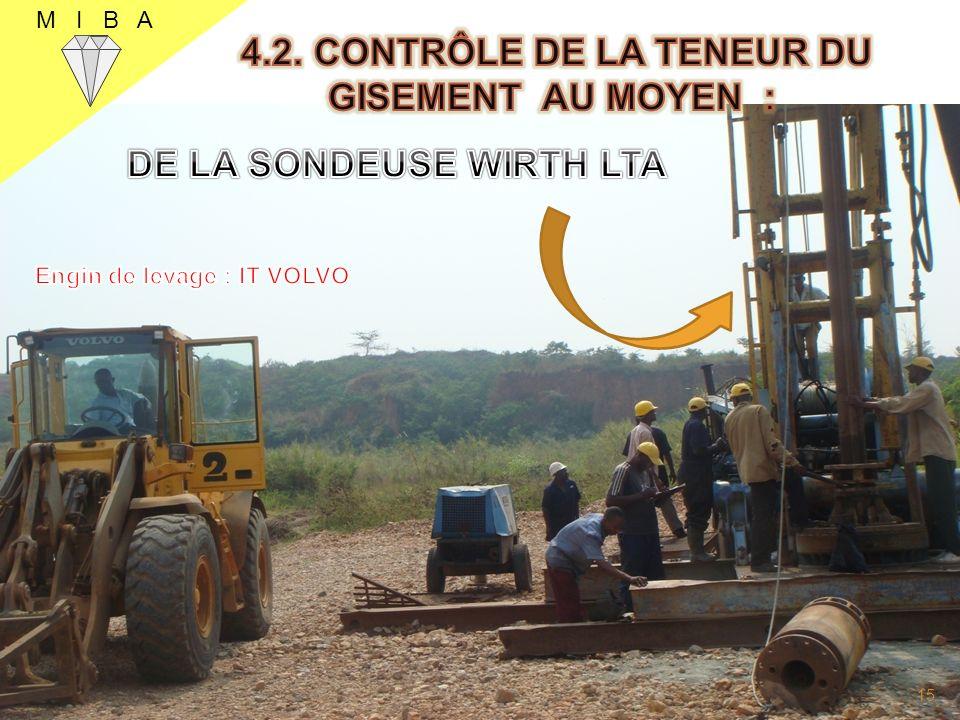19 4.2. CONTRÔLE DE LA TENEUR DU GISEMENT AU MOYEN :