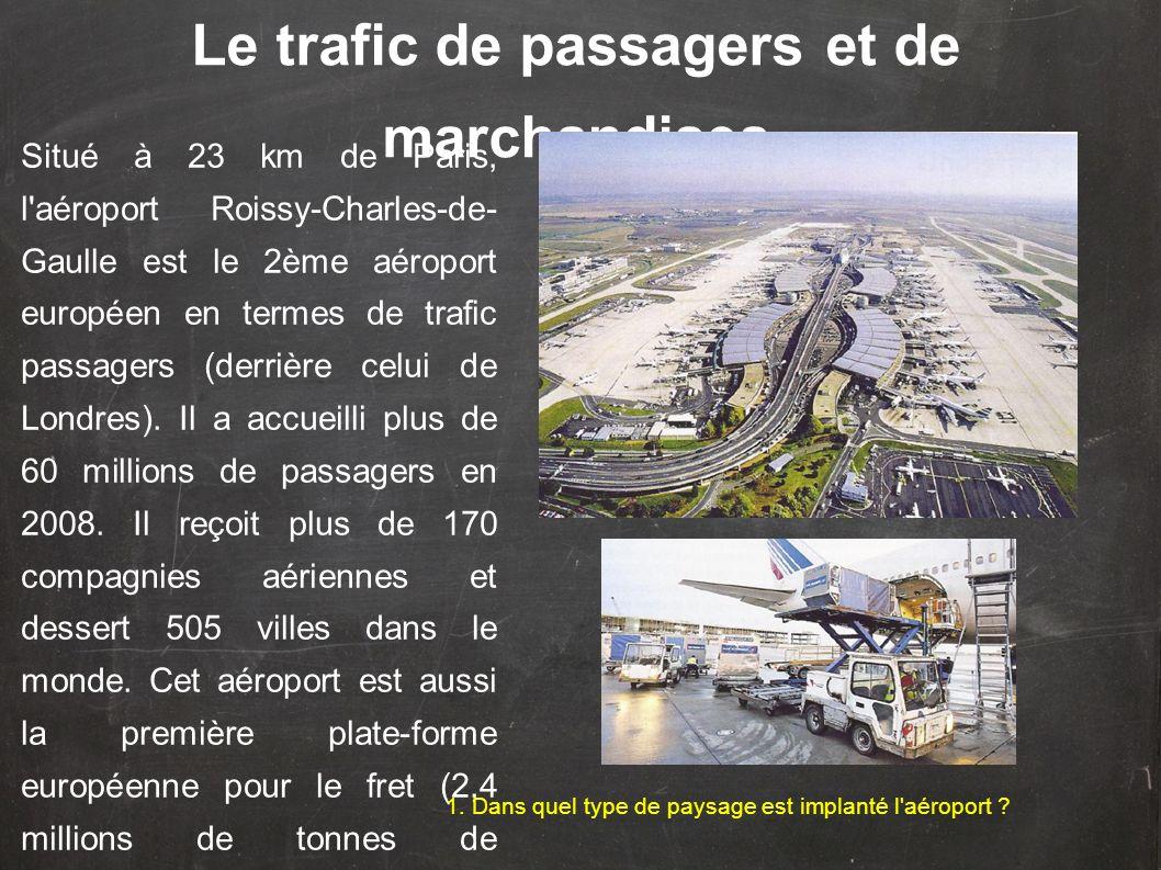Le trafic de passagers et de marchandises
