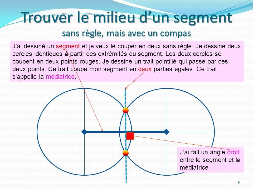 Trouver le milieu d'un segment sans règle, mais avec un compas