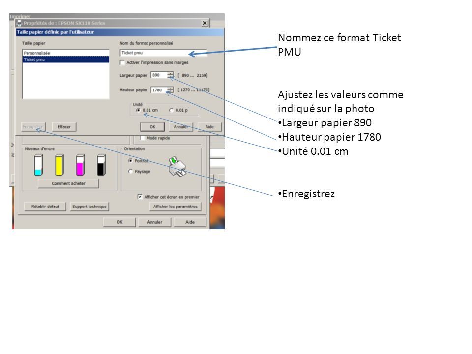 Nommez ce format Ticket PMU