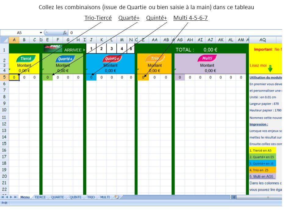 Trio-Tiercé Quarté+ Quinté+ Multi 4-5-6-7