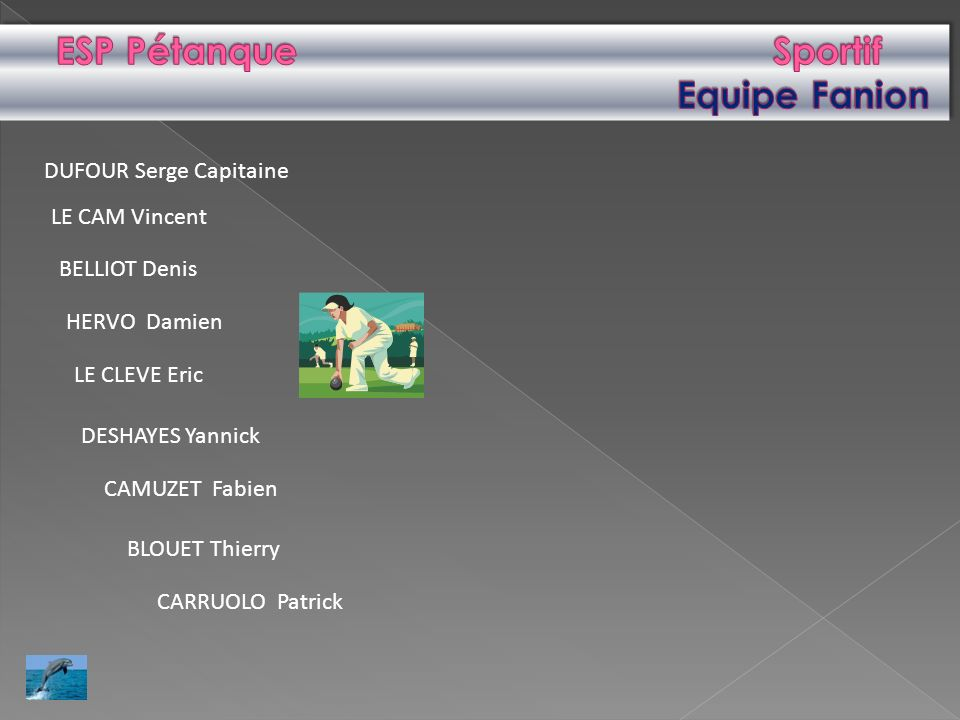 ESP Pétanque Sportif Equipe Fanion