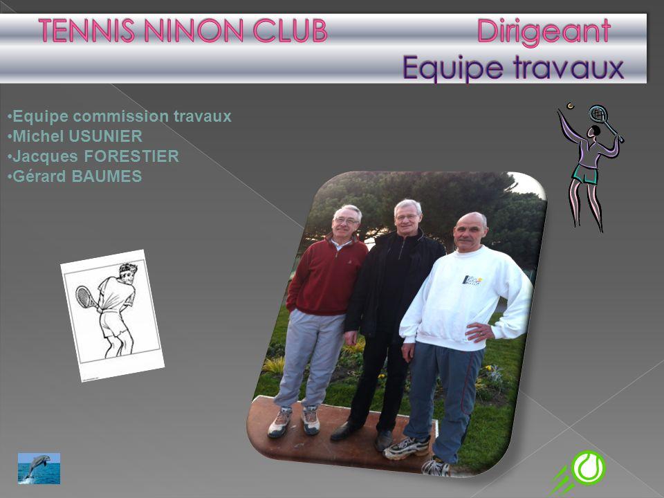 TENNIS NINON CLUB Dirigeant Equipe travaux
