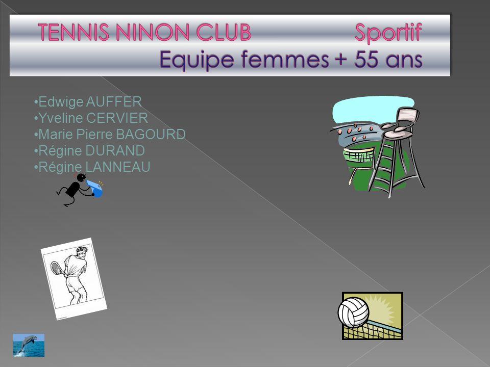 TENNIS NINON CLUB Sportif Equipe femmes + 55 ans
