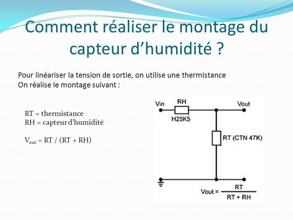 Comment réaliser le montage du capteur d'humidité