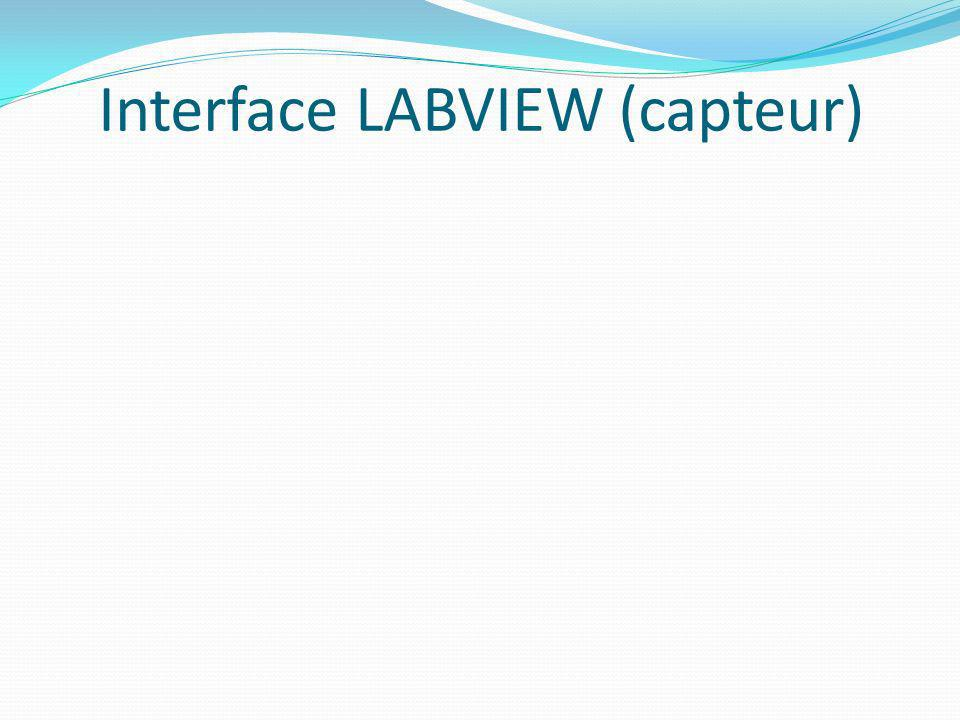 Interface LABVIEW (capteur)