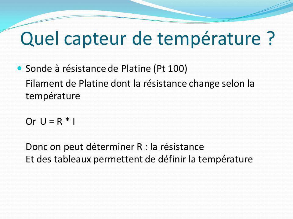 Quel capteur de température