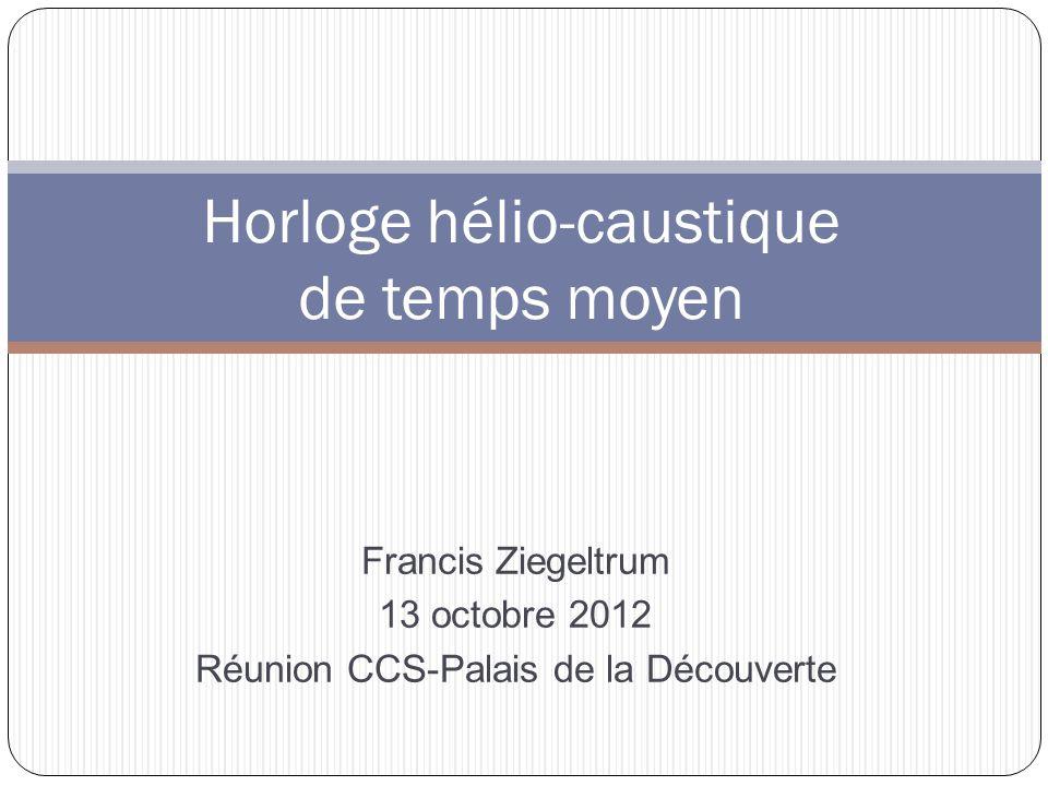 Horloge hélio-caustique de temps moyen