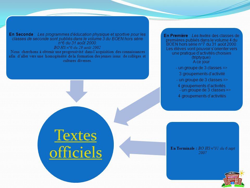 4 groupements d'activités - un groupe de 3 classes =>