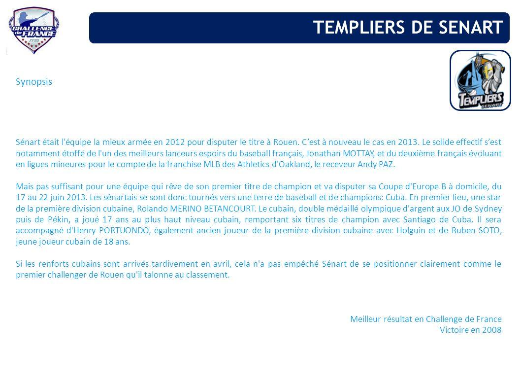 TEMPLIERS DE SENART Synopsis