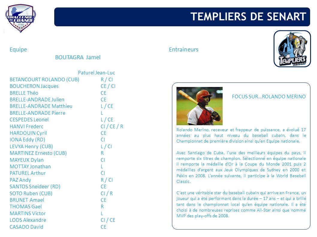 TEMPLIERS DE SENART Equipe Entraineurs BOUTAGRA Jamel Paturel Jean-Luc