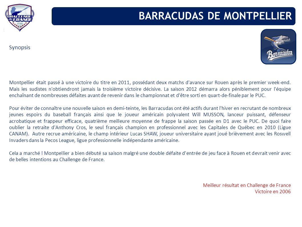 BARRACUDAS DE MONTPELLIER