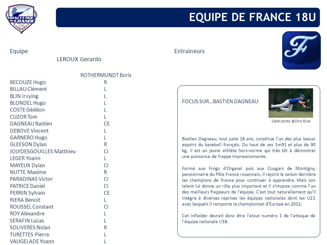 EQUIPE DE FRANCE 18U Equipe Entraineurs LEROUX Gerardo