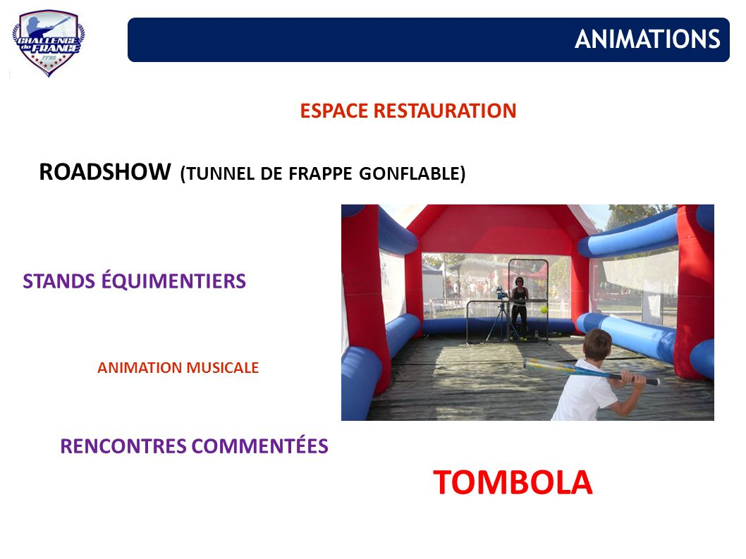 TOMBOLA ANIMATIONS ROADSHOW (TUNNEL DE FRAPPE GONFLABLE)