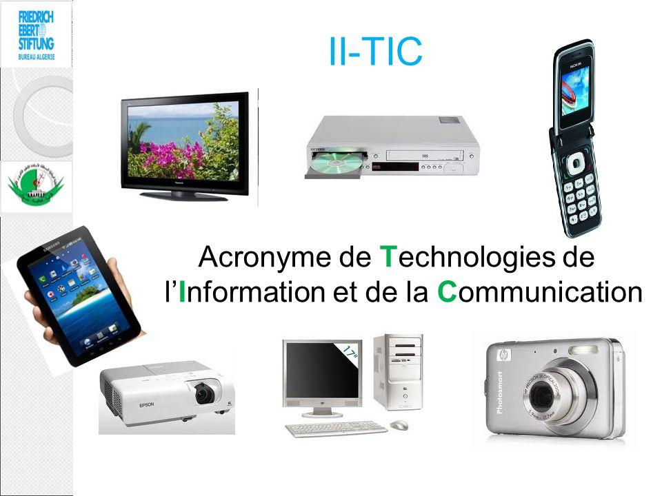 Acronyme de Technologies de l'Information et de la Communication