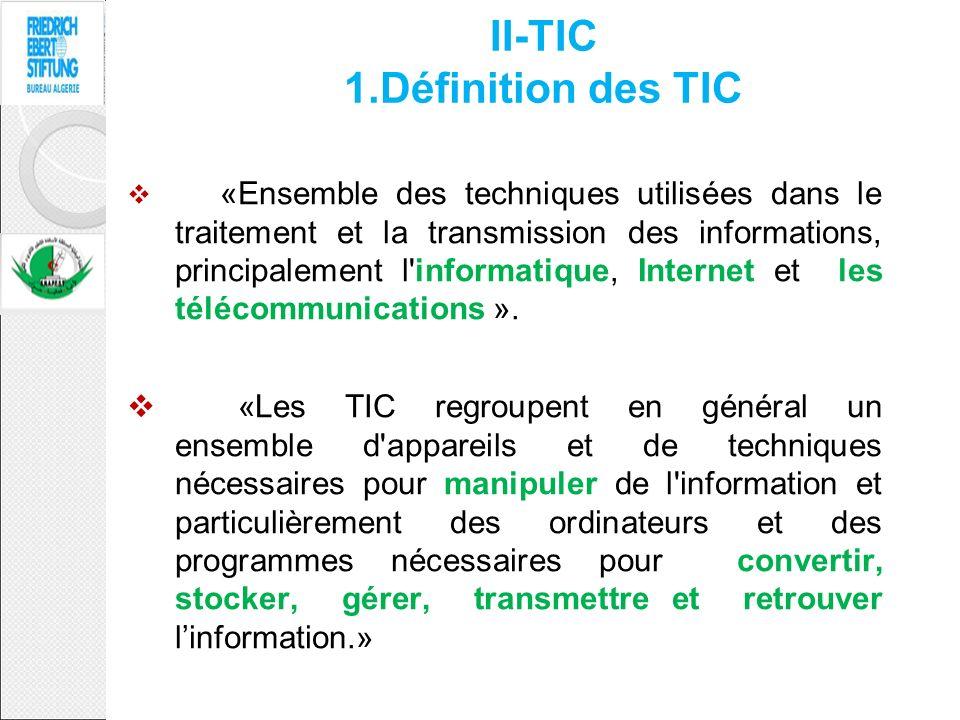 II-TIC 1.Définition des TIC