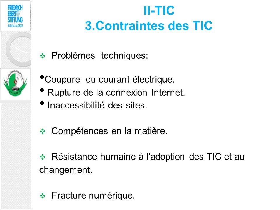 II-TIC 3.Contraintes des TIC