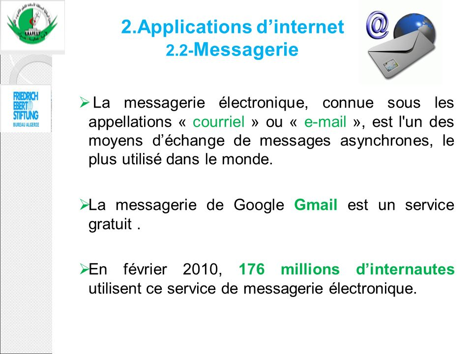 2.Applications d'internet 2.2-Messagerie