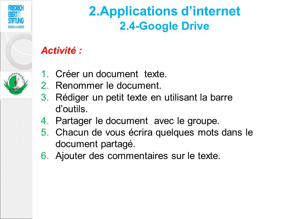 2.Applications d'internet 2.4-Google Drive