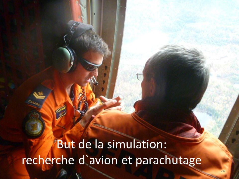 recherche d`avion et parachutage