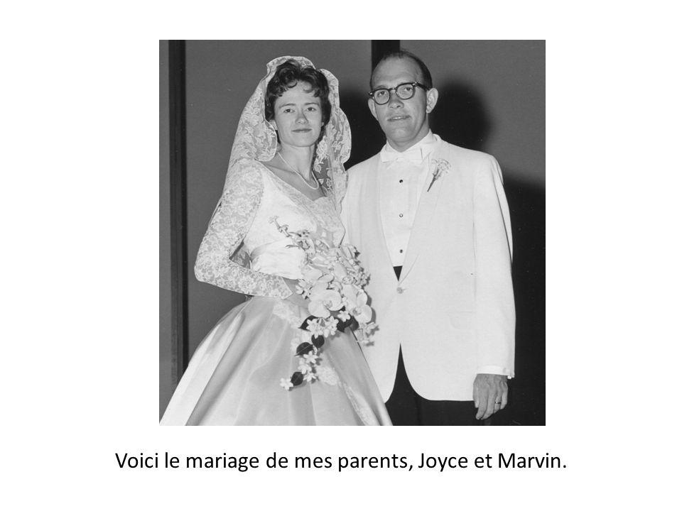 Voici le mariage de mes parents, Joyce et Marvin.