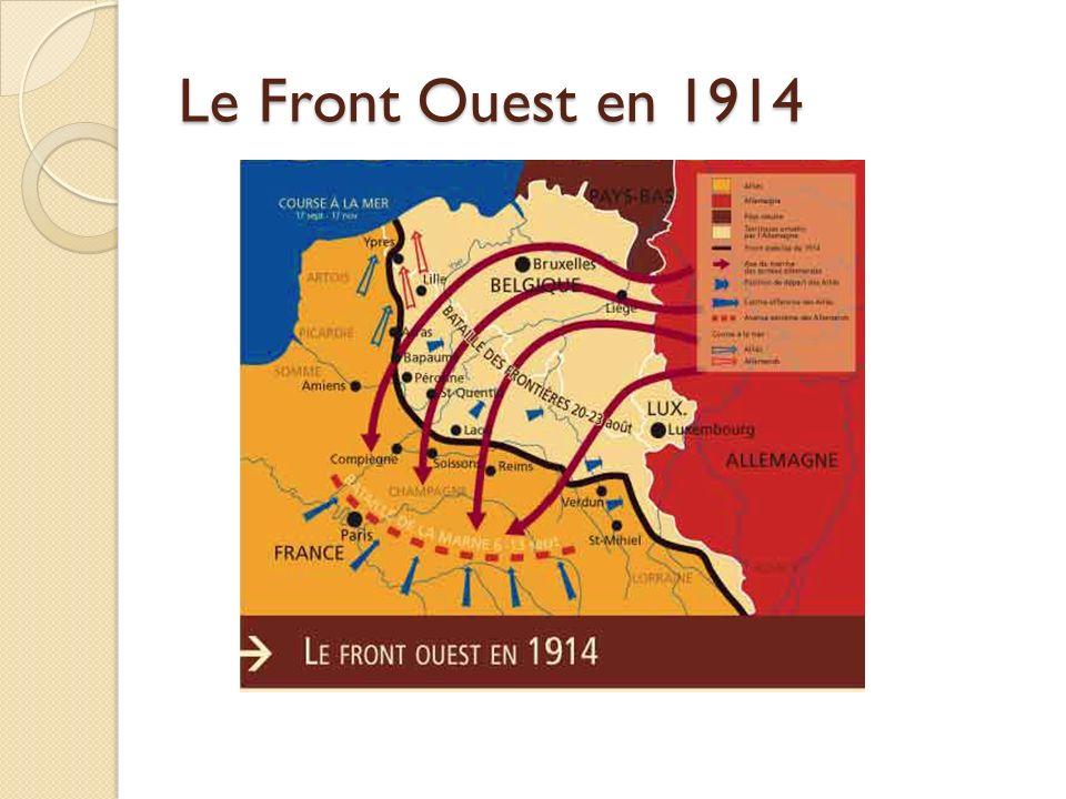 Le Front Ouest en 1914