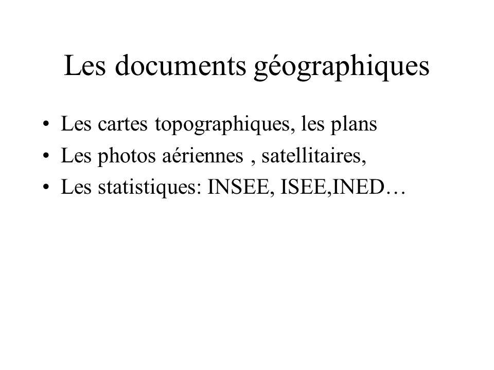 Les documents géographiques