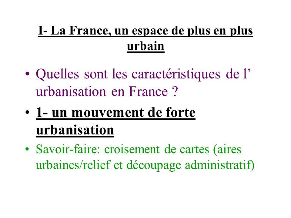 I- La France, un espace de plus en plus urbain