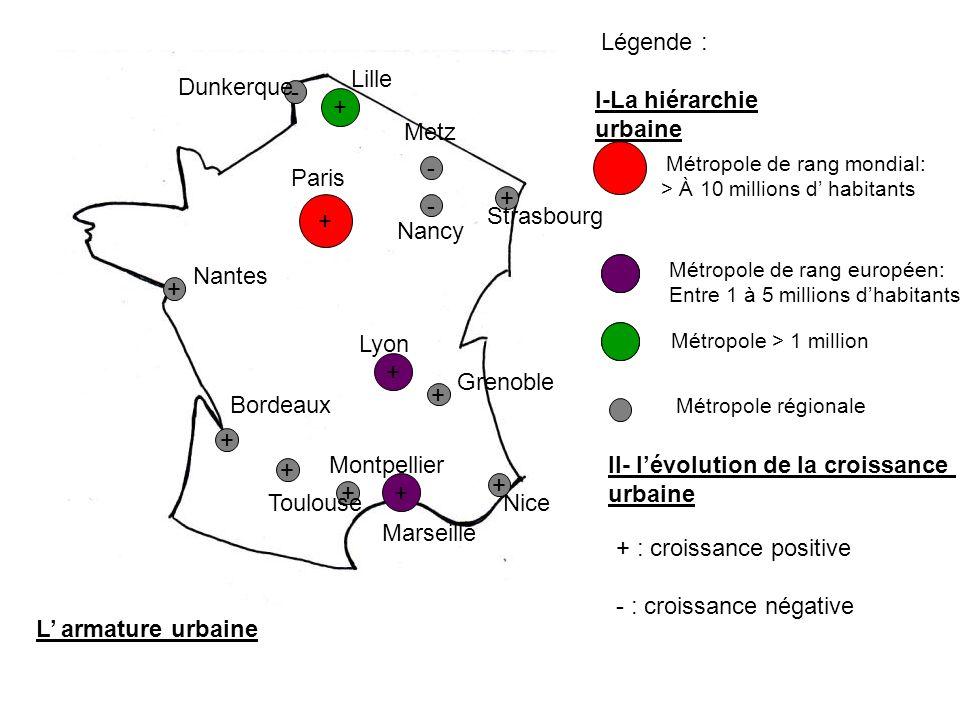I-La hiérarchie urbaine + Metz