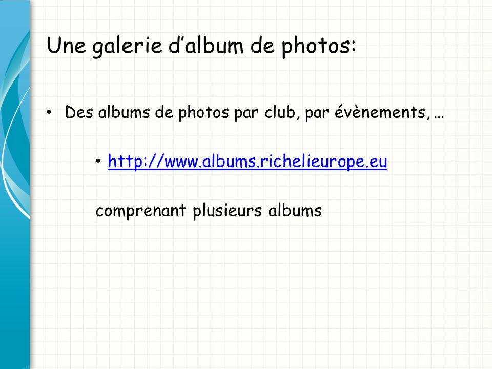 Une galerie d'album de photos: