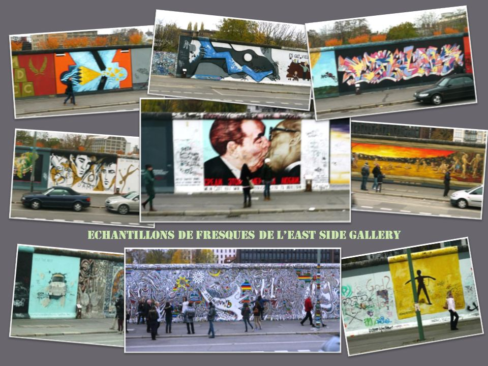 Echantillons de fresques de l'East Side Gallery