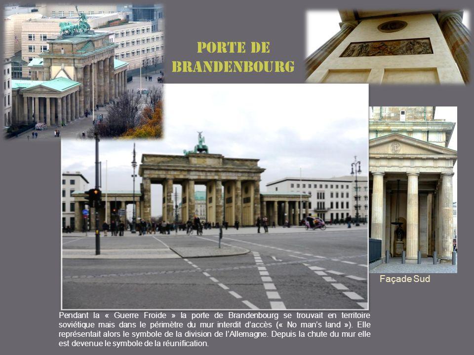Porte de Brandenbourg Façade Sud