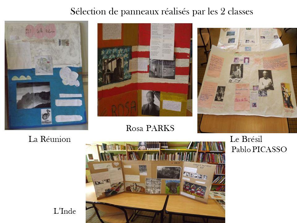 Sélection de panneaux réalisés par les 2 classes