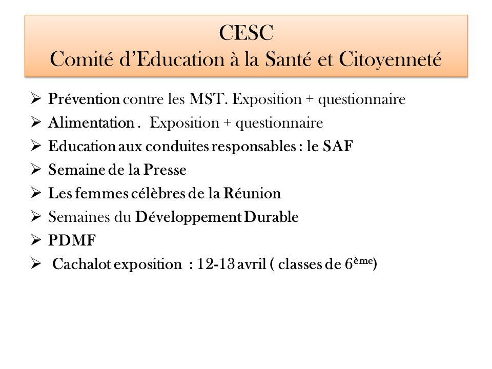 CESC Comité d'Education à la Santé et Citoyenneté