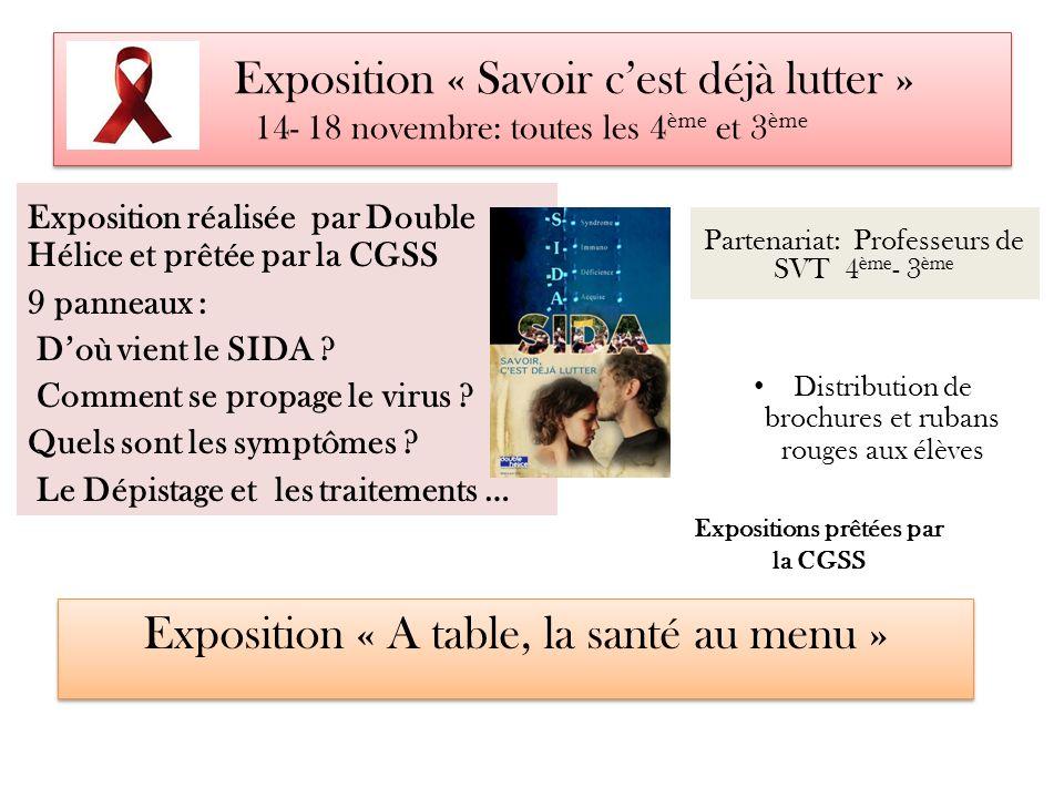 Expositions prêtées par la CGSS