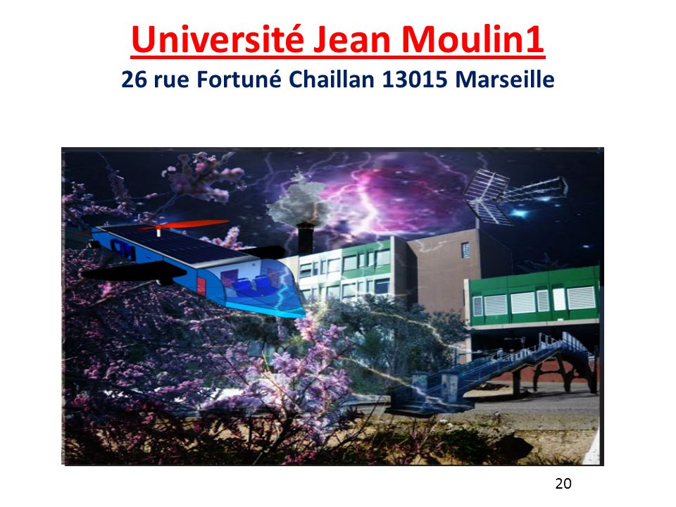 Université Jean Moulin1 26 rue Fortuné Chaillan 13015 Marseille