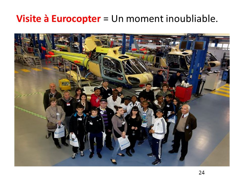 Visite à Eurocopter = Un moment inoubliable.