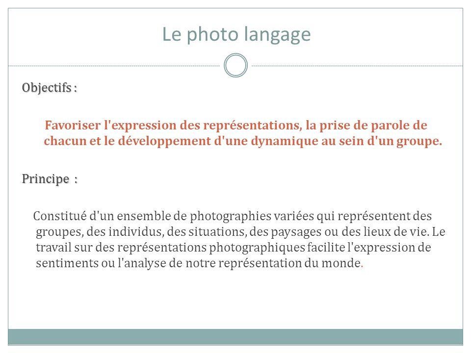 Le photo langage Objectifs :
