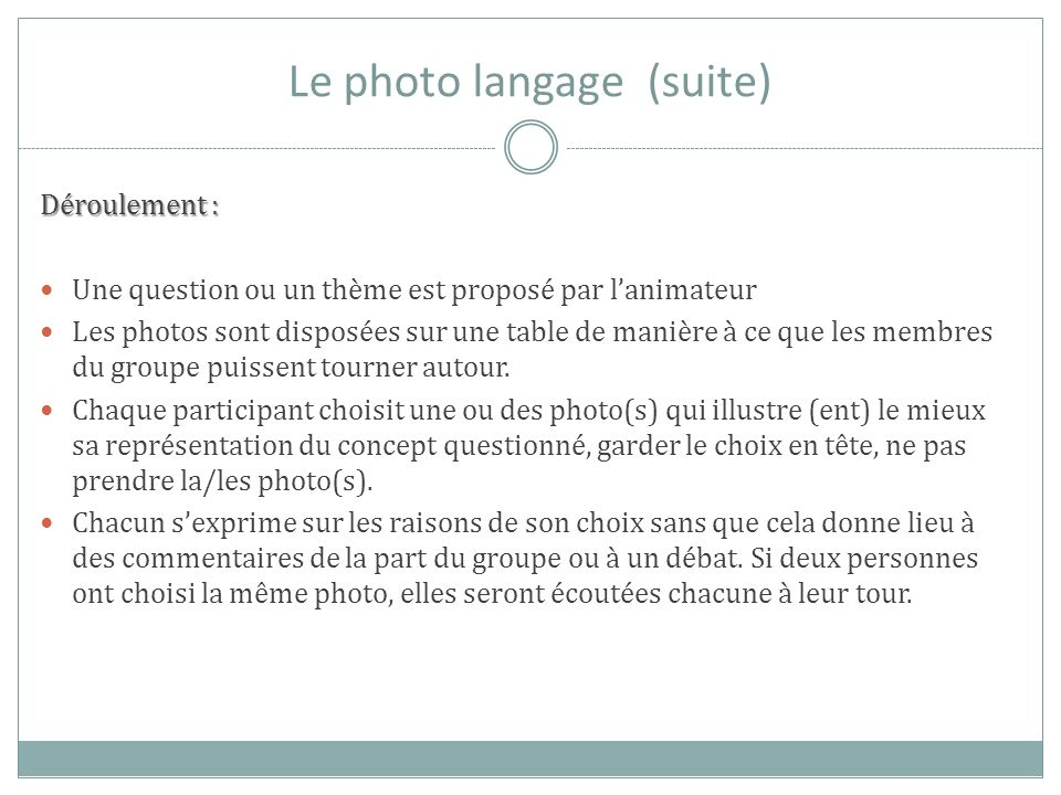 Le photo langage (suite)