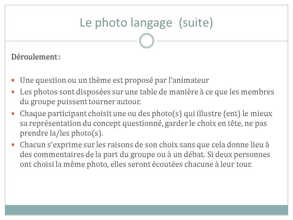 Le photo langage (suite)