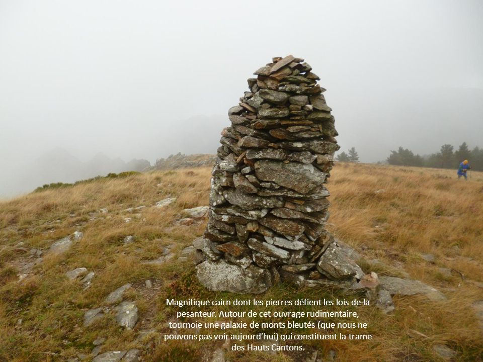 Magnifique cairn dont les pierres défient les lois de la pesanteur