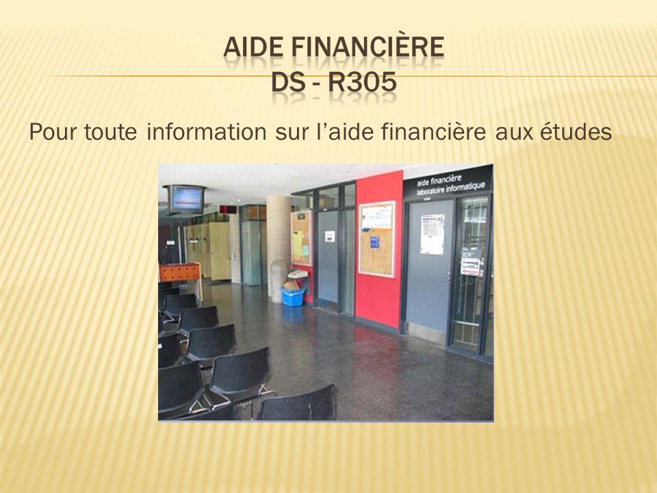 Pour toute information sur l'aide financière aux études