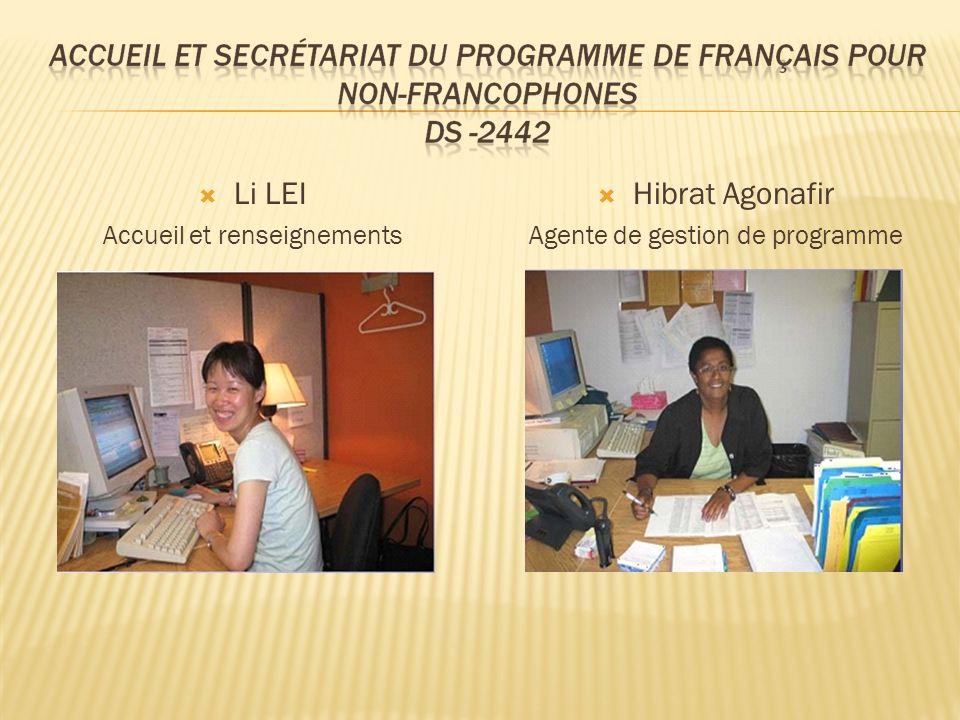 Li LEI Hibrat Agonafir Accueil et renseignements
