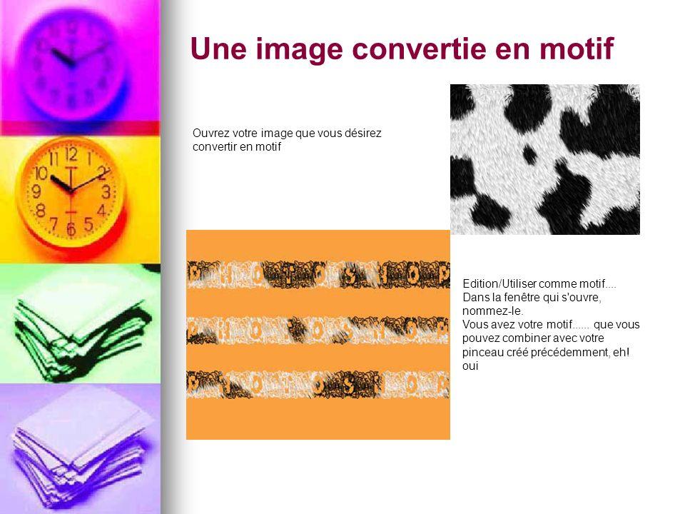 Une image convertie en motif