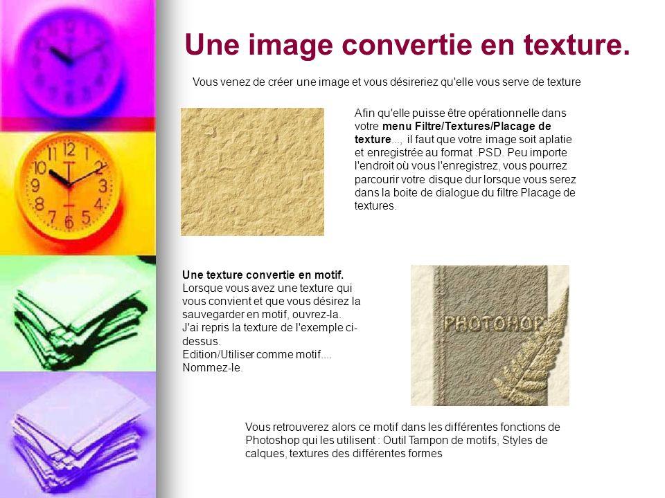 Une image convertie en texture.