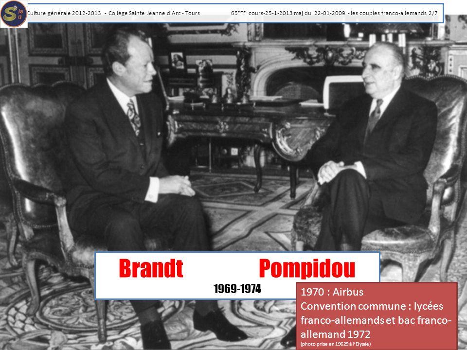 Brandt Pompidou 1969-1974 1970 : Airbus