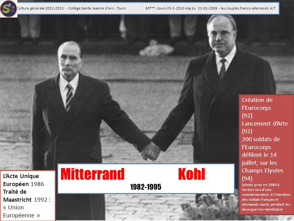 Mitterrand Kohl 1982-1995 Création de l'Eurocorps (92)