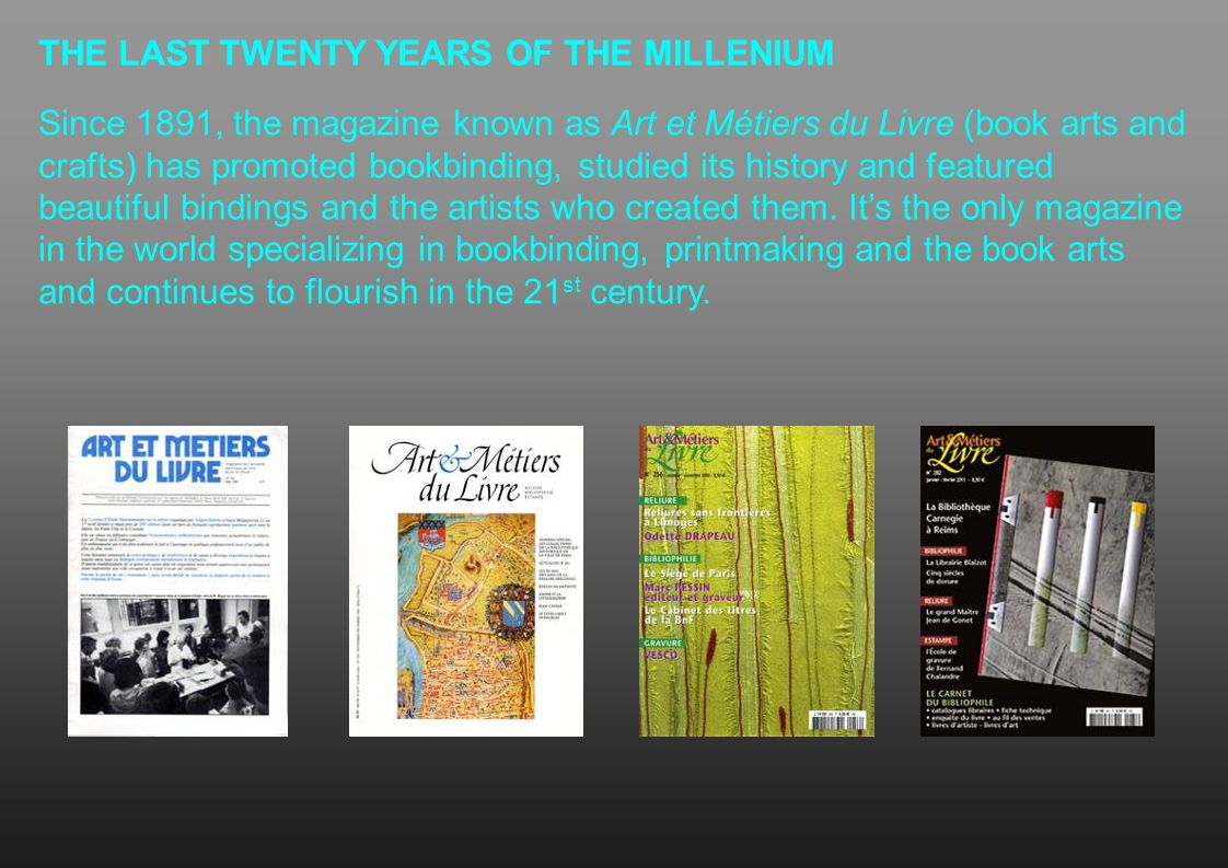 THE LAST TWENTY YEARS OF THE MILLENIUM